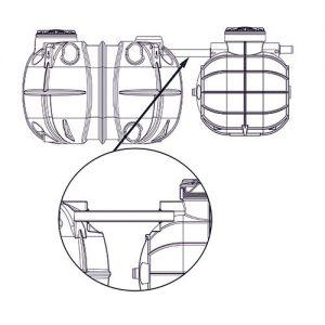 Подземная ёмкость 1000 литров (круглая)